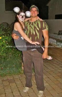 hahahaha Homemade Couple Koala and Tree Costume