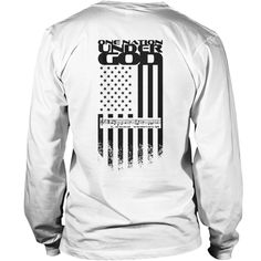 back in black: -One nation under god- with the 1.verse of the national anthem | Best T-Shirts USA are very happy to make you beutiful - Shirts as unique as you are.