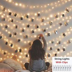 Room Ideas Bedroom, Girls Bedroom, Bedroom Wall, Bedroom Picture Walls, Lighting Ideas Bedroom, Cozy Teen Bedroom, Magical Bedroom, Teen Bedrooms, Bedroom Inspo