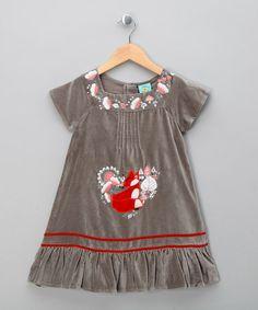 Blue Velvet Fox Dress - Toddler & Girls by Uttam Girls on #zulilyUK today!