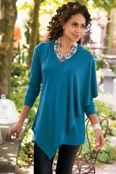In gorgeous jewel tones, our Madison Tunic jersey knit piece will be your fall favorite.