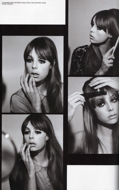 Gallery Update - Edie Campbell as Pattie Boyd for Lula - I absolutely love this shoot I worked on for the current issue of Lula Magazine. The story was based around a set of pictures Pattie Boyd did in the .a kind of beauty 'How To'. Twiggy also d Edie Campbell, Vintage Makeup, Vintage Beauty, 1960s Makeup, Mod Makeup, Twiggy Makeup, 60s Makeup And Hair, Pattie Boyd, Lisa Eldridge