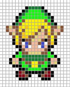 8 Bit Character Grid Link pixel art 2 grid by