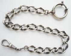 """Uhrkette, Silber 800, eine """" Geschlagene ? """"   eBay"""