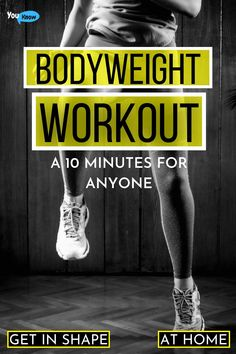Best Body Weight Exercises, Weight Workouts, Easy Workouts, At Home Workouts, Full Body Bodyweight Workout, Full Body Workout At Home, Yoga Fitness, Fitness Tips, Pcos Exercise