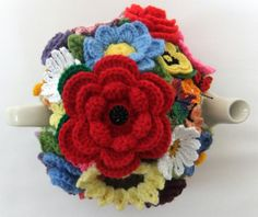 Hand knitted 6 cup Cottage Garden tea cosy by Handmadewithlove66, £21.00