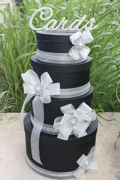 My hint of bling card box….ok maybe more than a hint ;op | Weddingbee Photo Gallery
