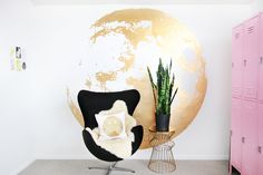 Gold Moon Wall abeautifulmess.com