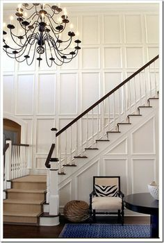 "This would be even better with modern lighting and ""wow"" stair runner."