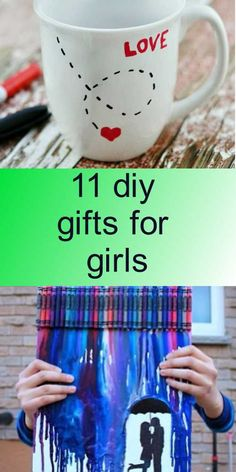 11 diy gifts for girls - Gifts For Girls, Diy Tutorial, Diy Gifts, Snoopy, Mugs, My Love, Tableware, Products, My Boo