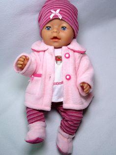 Puppenbekleidung für Baby Born 43/ Krümel, 5- Teilig