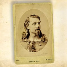 This circa 1870s cabinet card of William F. Cody photographed by Napoleon Sarony reveals the 30-something actor during his theatre years.  – Courtesy Heritage Auctions, June 13, 2008 –