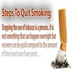 Ten Simple Steps To Quit Smoking... for anyone out there who struggles with this, I read this and these are not only great tips but smart ideas to make this a permanent result not just a momentary replacement that doesn't actually solve the issue. You can