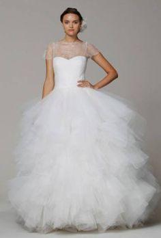 Tule, muito tule!  Coleção Primavera 2013 de vestidos de noiva Marchesa.
