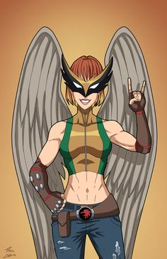 Hawkgirl (Earth-27) commission by phil-cho on DeviantArt