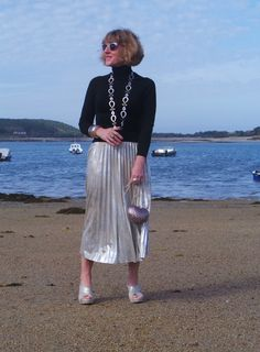 Anna's Island Style fashion blog in Marvellous Metallics, the June 2017 5 Over 50 Challenge