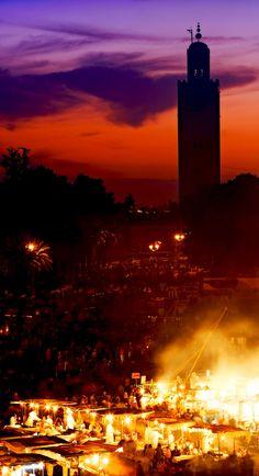 The Famous Jema el Fna square in Marrakesh