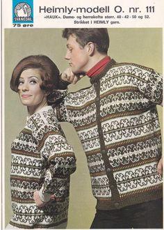 Hauk O 111 - Svanedal Fair Isle Knitting, Hand Knitting, Norwegian Knitting, Fair Isles, North Sea, Christmas Sweaters, Cardigans, Men Sweater, How To Make