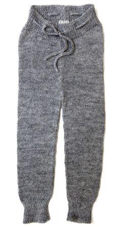Midwinter Knit Pants / Light Grey #nievaknitwear