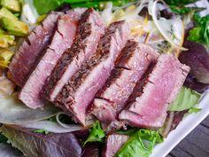 Seared Ahi Tuna Salad (with Spicy Ginger Vinaigrette)