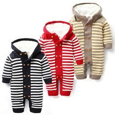 Baby winter rompers  plus villus new born jumpsuit one piece wear baby boy clothes recem nascido roupa de bebe menino macacao with Free Shipping