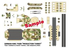 tiger ii production turret by sega