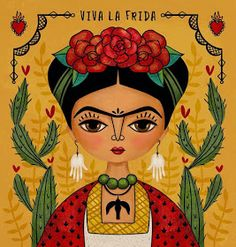 Yesterday was one of those days when I hit a creative brick wall and nothing worked. I really dislike those days. 😡 So once again, I walked…I needed another Frida fix. Mexican Artists, Mexican Folk Art, Kahlo Paintings, Original Art, Original Paintings, Frida And Diego, Frida Art, Inspiration Art, Art Plastique