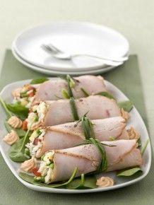Rotolini di arrosto di tacchino con riso freddo