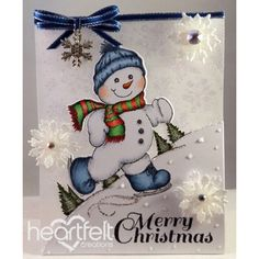 Heartfelt Creations - Frosty Vellum Card Project                                                                                                                                                                                 More