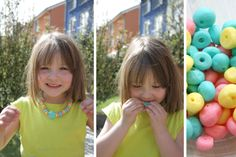 Homemade Candy Beads Necklace for kids