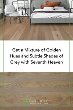 With spring just around the corner, combining golden hues with subtle shades of grey could be just the transformation you were looking for. Take a look to see how the casual comfort of Seventh Heaven will make you feel instantly at home. #home #woodflooring #luxuryflooring Luxury Flooring, Oak Flooring, Wide Plank Flooring, Seven Heavens, White Oak Floors, Shades Of Grey, Corner, Spring, Casual