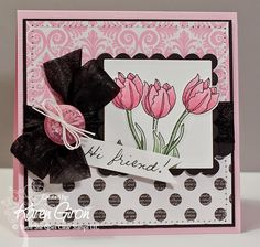 handmade friendship card by Karen Giron ~ The Sweetest Thing