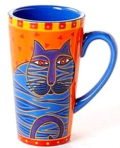 LAUREL BURCH CAT TALL LATTE MUG NEW COLLECTOR'S CUP RARE