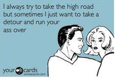 Crazy women drivers! Lol!