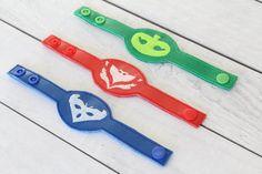PJ Masks Felt Bracelet party favors available from ceciandjuju Etsy store