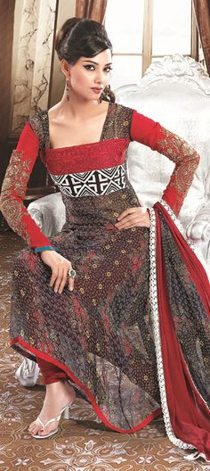 Black and Grey, Red and Maroon fabric only Salwar Product