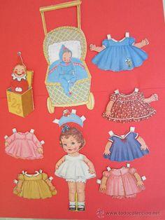 recortable ,  troquelado muñeca mariquita y complementos, de carton
