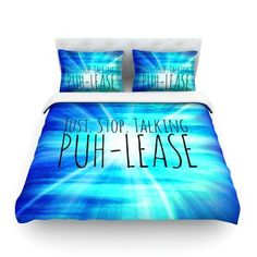 KESS InHouse Puh-lease by Ebi Emporium Featherweight Duvet Cover Size: