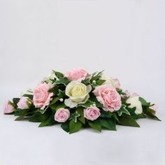 Ivory and Pink Top Table Arrangement