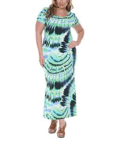 Look at this White Mark Green Sensation Maxi Dress - Plus by White Mark Plus Dresses, Nice Dresses, Mark Green, Old Women, Looking For Women, Tie Dye Skirt, Plus Size Outfits, Plus Size Fashion, Plus Size Women