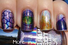 Purple dragon nail art ~ More Nail Polish