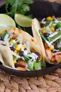 These BBQ Chicken Tacos are easy, fresh and packed with flavor! Plus, learn my secret for making the best white corn taco shells.