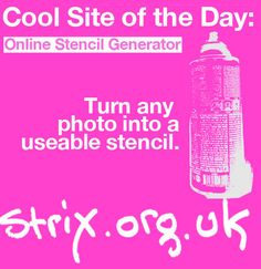 Strix, the same clever team that brought us the Ransom Note Generator, has released The Stencil Generator. It allows you to upload any photo (or even provide an image URL) and create a stencil for internet graffiti, or to print and cut for an actual piece of art.The app thankfully includes a white point selector that allows you to choose how much contrast you want in your image. Get going! Online Stencil Generator