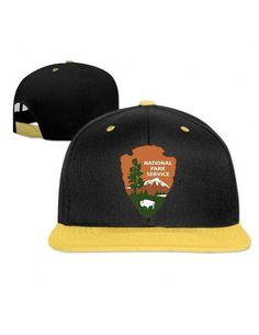 Jaune conception firesale National Park Service 100th Homme   femmes  casquettes de hip-hop d0977a2e6dbf