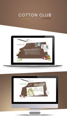 Cotton Club - Création site internet Creation Site, Cotton Club, Creations, Projects