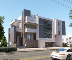 Modern Bungalow Exterior, Bungalow House Design, House Outside Design, House Front Design, Best Modern House Design, Modern House Plans, House Elevation, Front Elevation, Render Design
