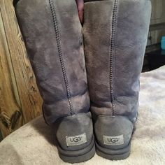 Grey Ugg Boots Good condition, only worn a handful of times UGG Shoes Winter & Rain Boots