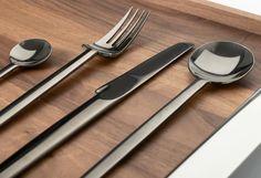 Carl Mertens Certo stainless steel cutlery, colour titan | Artedona.com