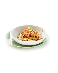 Tofu With Tomatoes, Basil, And Mint Recipe — Dishmaps