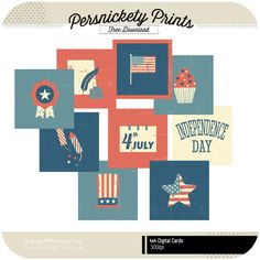 Quality DigiScrap Freebies: July 4th journal cards freebie from Persnickety Prints